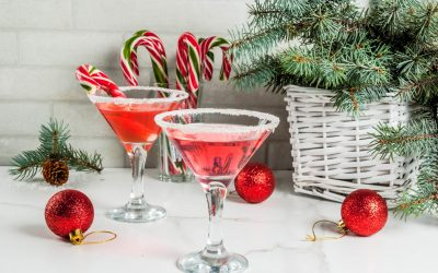 Peppermint Vodka Candy Cane Cocktail