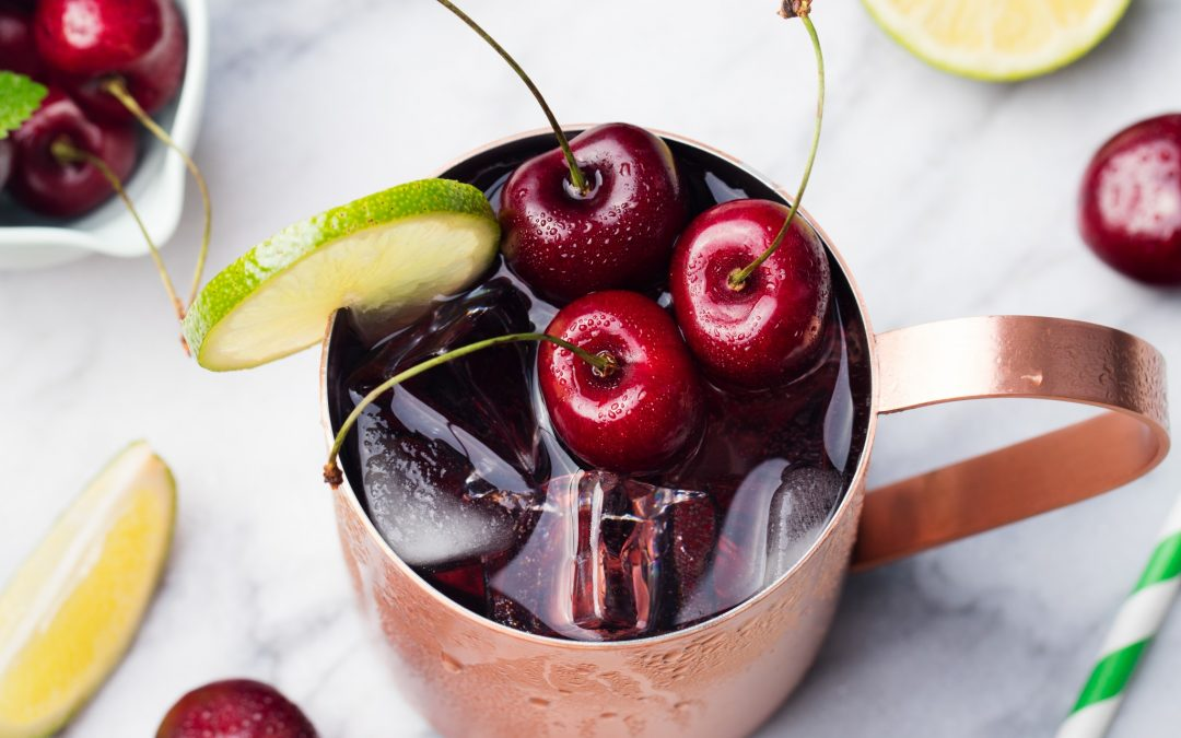 fresh cherry moscow mule