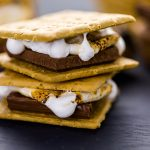 bourbon marshmallow smores with bacon
