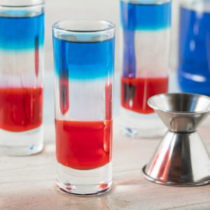 4th of july layered shots