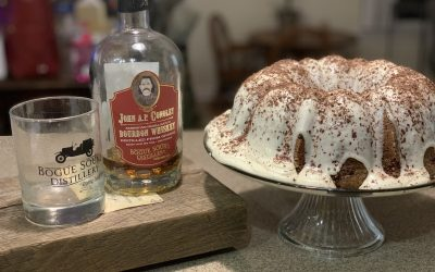 JAPC Bourbon Chocolate Cake with Bourbon Cream Cheese Icing