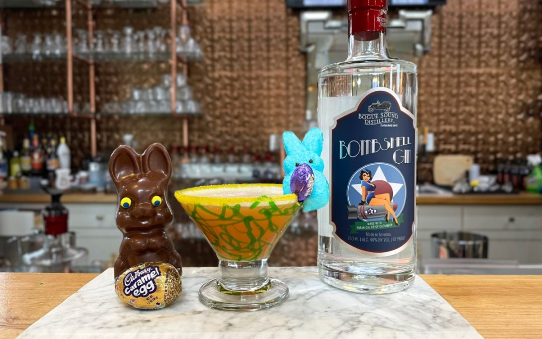 Easter Basket Martini with Bombshell Gin